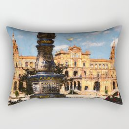 Plaza de Espana, Seville Rectangular Pillow