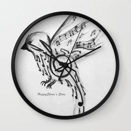 Bird of music Wall Clock