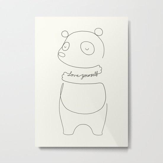 Love Yourself Panda Metal Print