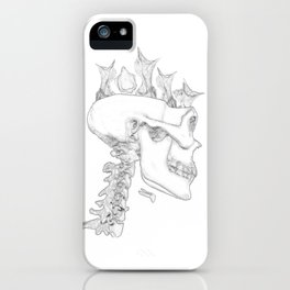 Blackbird Hatchlings in a Skull iPhone Case