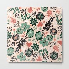 Succulent flowerbed Metal Print