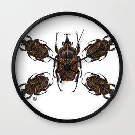 Goliath Flower Beetle Wall Clock