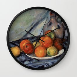 Paul Cézanne - Fruit and a Jug on a Table Wall Clock