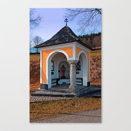 Beautiful chapel along the way   architectural photography Canvas Print