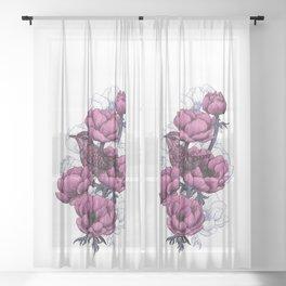 Wren bouquet   Sheer Curtain
