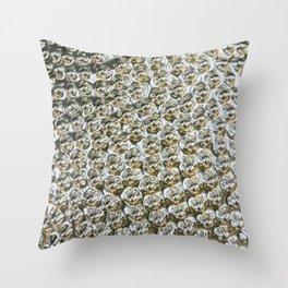 Silver Metallic Spiked Studs Throw Pillow