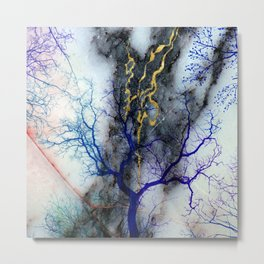 Marble through Tree Branches Metal Print