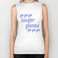lorde Biker Tanks featuring Ya Ya Ya Hunger Ya Ya Ya Games - Blue by Hrern1313