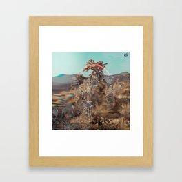 Hallucinations in the Desert Framed Art Print