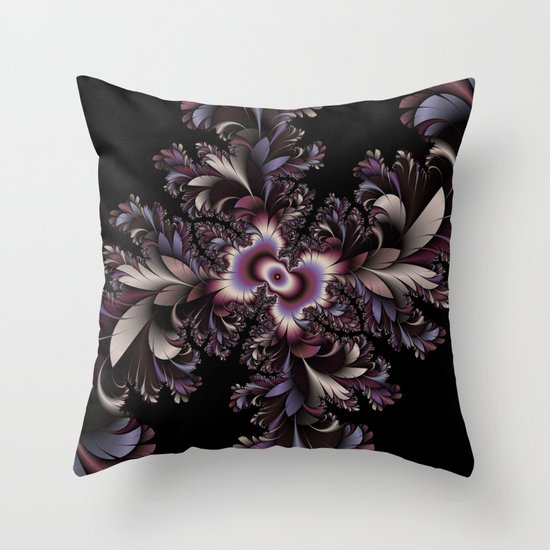 Feather flowers Throw Pillow