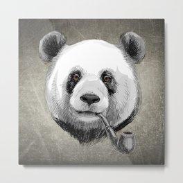 Sketch Panda Metal Print