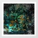 Gold Indigo Malachite Marble by originalaufnahme