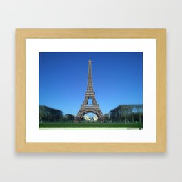 Paris Eiffel tower black and white with color Framed Art Print