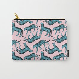 Tigers (Pink and Blue) Carry-All Pouch