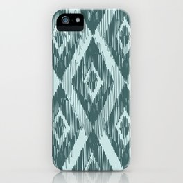 Pine and Mint Ikat iPhone Case