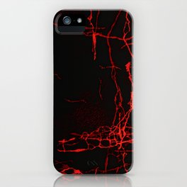 Horror -Dark Red- iPhone Case