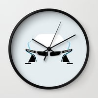 bmw Wall Clocks featuring BMW i8 by Nick Steen