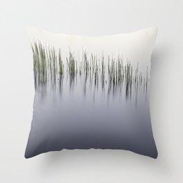 Grass Reeds on the Lake Throw Pillow