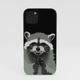 Diabolical Racoon iPhone Case
