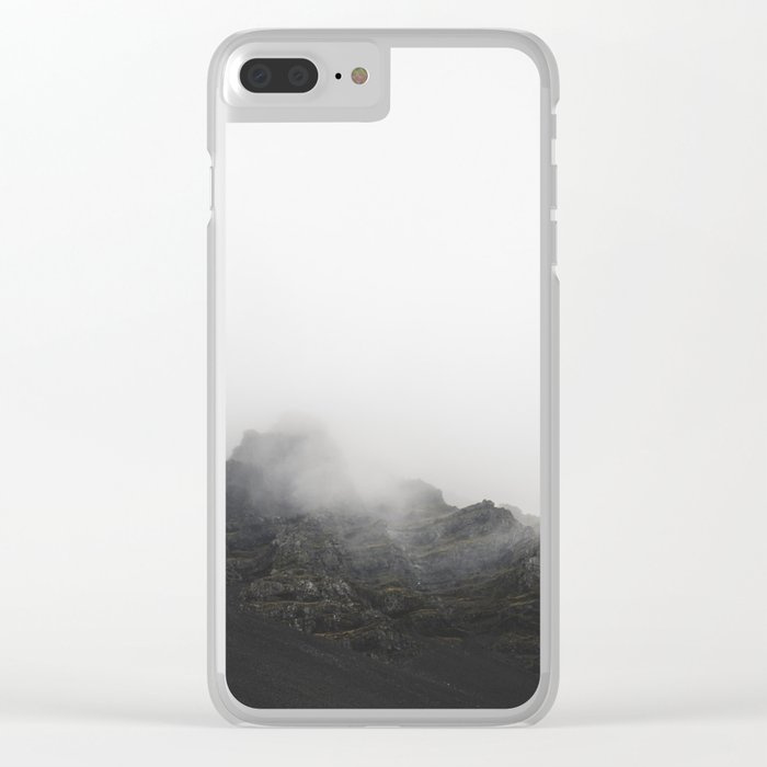 Cliffside Fog Clear iPhone Case