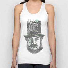 Old man hatten Unisex Tank Top