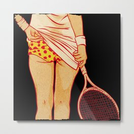 Tennis Skirt Woman Metal Print