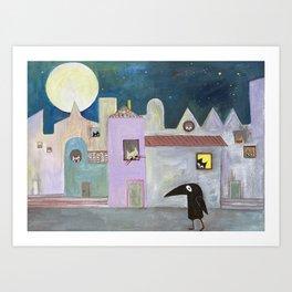 city of cats Art Print