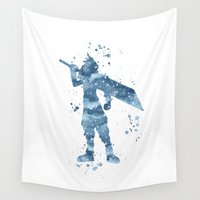 final fantasy Wall Tapestries featuring Cloud Final Fantasy  by Carma Zoe