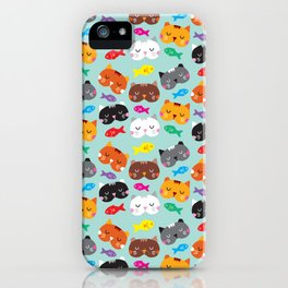 Cats Love Fish I iPhone Case