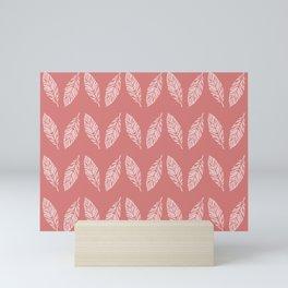 Tropical foliage Flamingo Pink #tropical #leaves #homedecor Mini Art Print