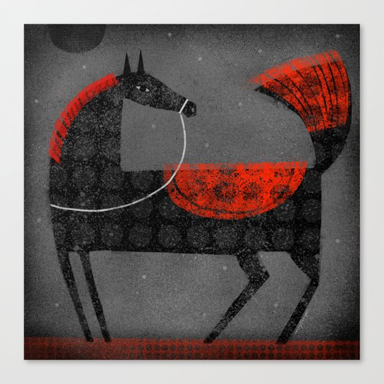 BLACK MOON Canvas Print