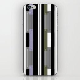 Black and White Striped iPhone Skin