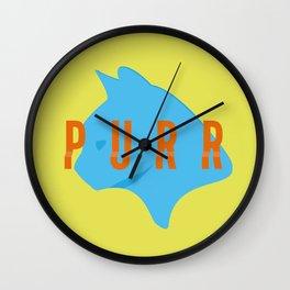 Purr Wall Clock