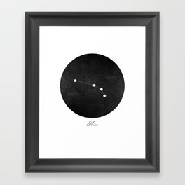 Aries Zodiac Constellation Art Print Framed Art Print