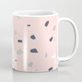 Blush Midnight Navy Terrazzo #1 #decor #art #society6 Coffee Mug
