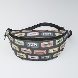 Mixed Mix Tapes - Dark Background Fanny Pack