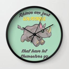 Rhinos are Unicorns Wall Clock
