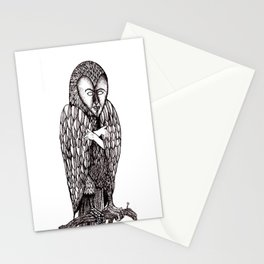 Owl being Stationery Cards