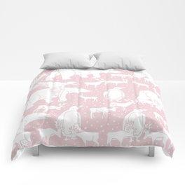 Polar gathering (powder rose) Comforters