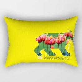 Berlin Bear - Tulips Rectangular Pillow