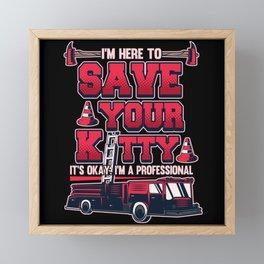 Volunteer Fire Brigade Firefighter Gift Framed Mini Art Print