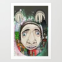 creepy Art Prints featuring Creepy by Paul Matthews