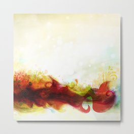 Abstract Splats by Friztin Metal Print