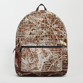 Washington West Columbia old map year 1945,colorful artwork Backpack