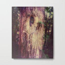 Gnome Tree House Metal Print