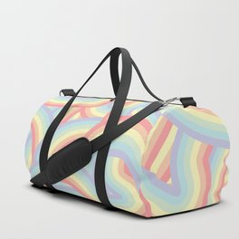 Soft Pastel Rainbow Stripes Pattern Duffle Bag