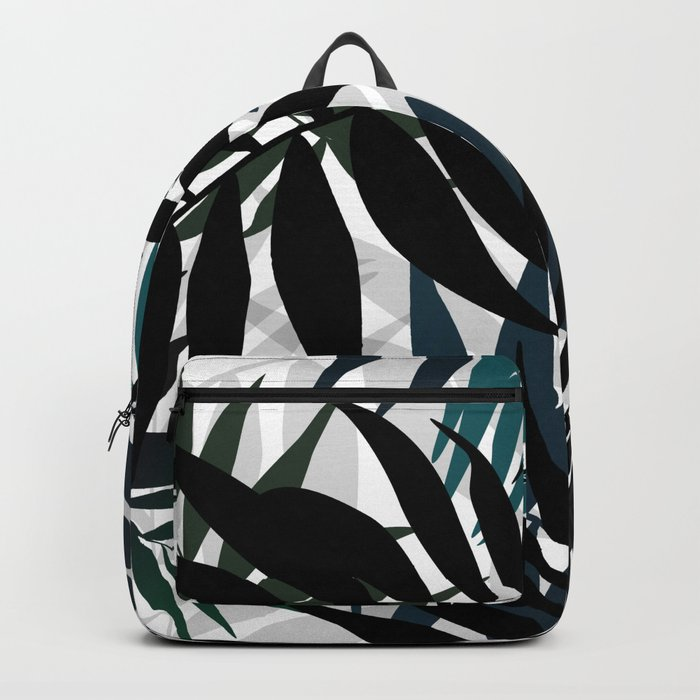 Shadow palm tree leaves Backpack