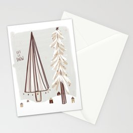 Let It Snow ~ Blush ~ Stationery Cards