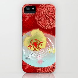 RedFrog at the Koi Pond iPhone Case