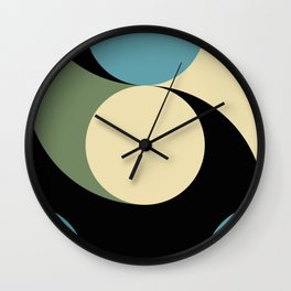 Two comets, one blue with a white tail, the other's white with a green tail. Wall Clock